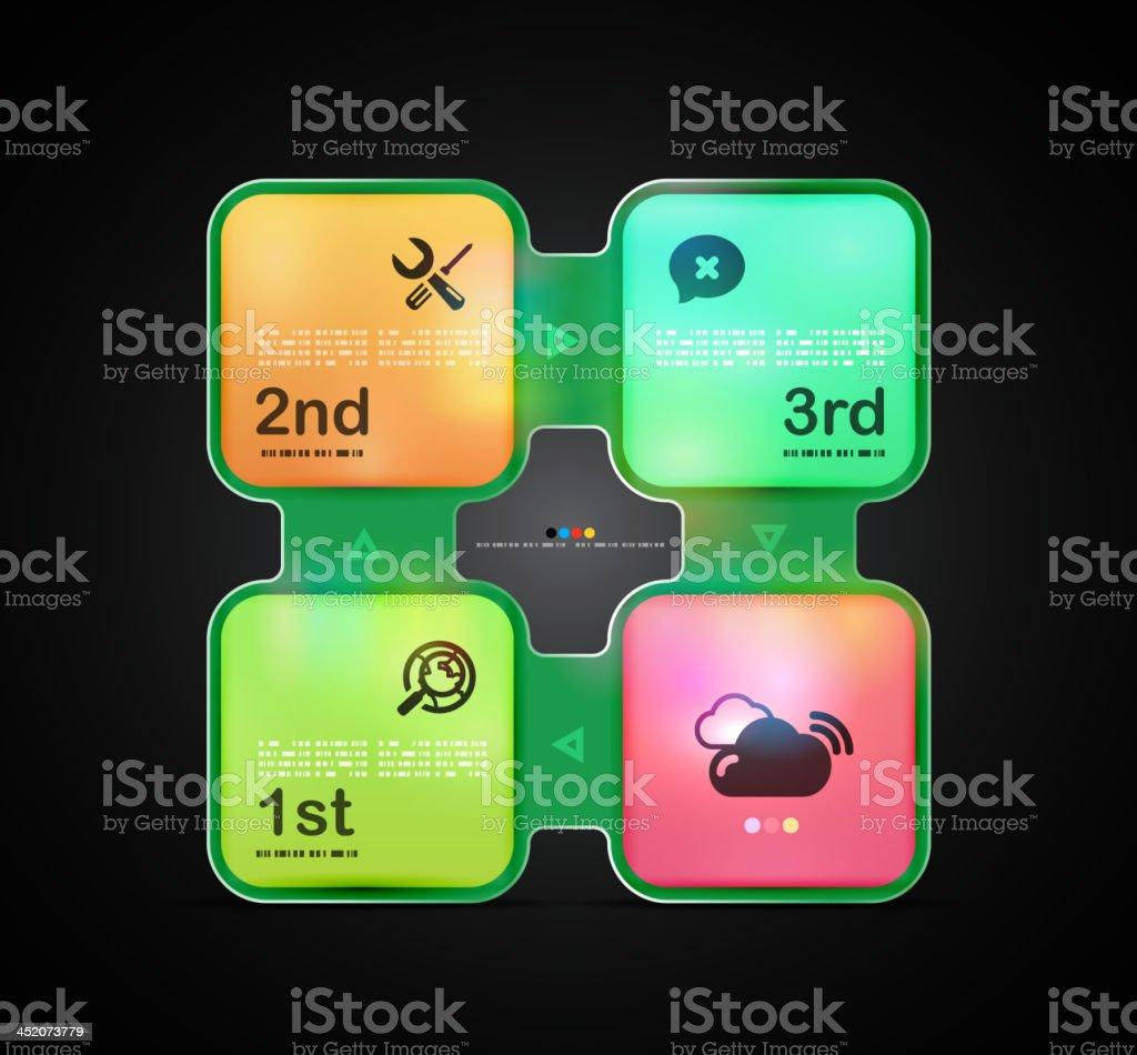 Vector neon infographics royalty-free stock vector art