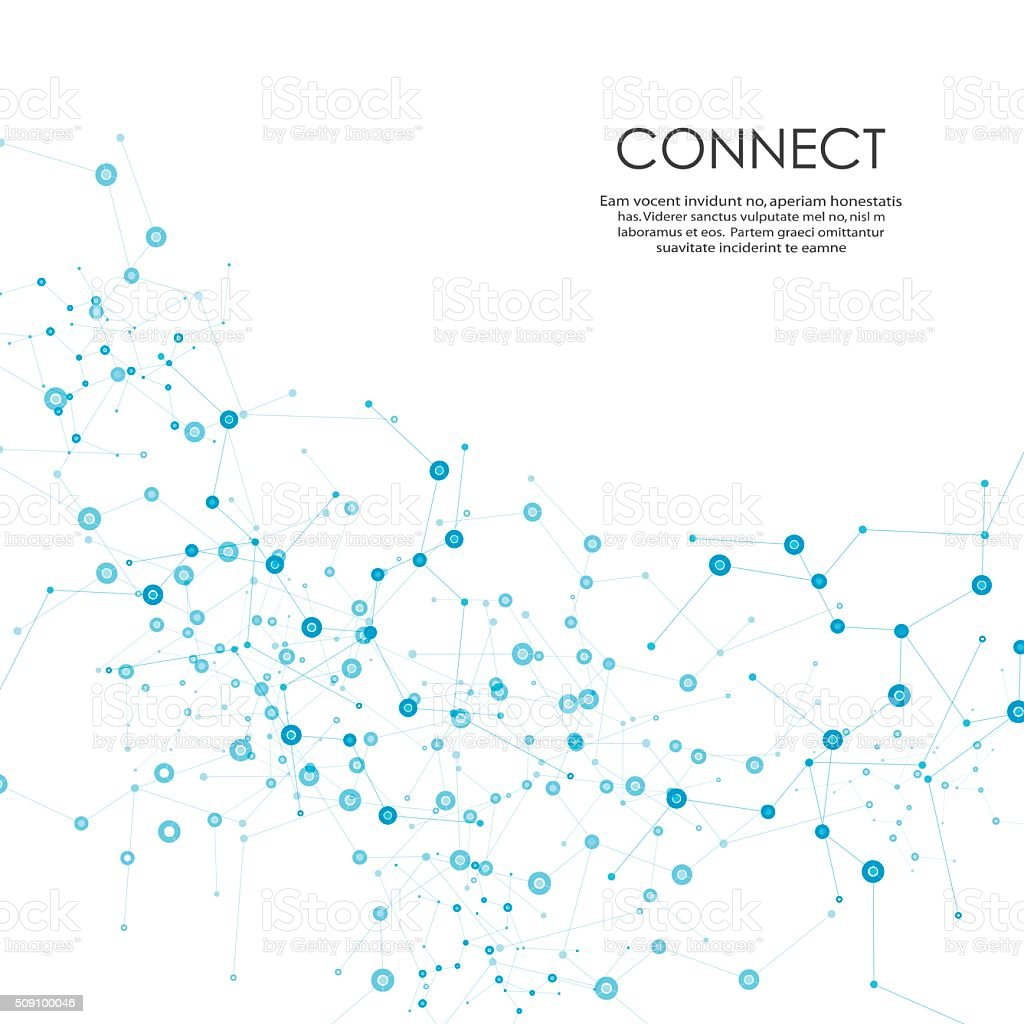 Vector network design vector art illustration