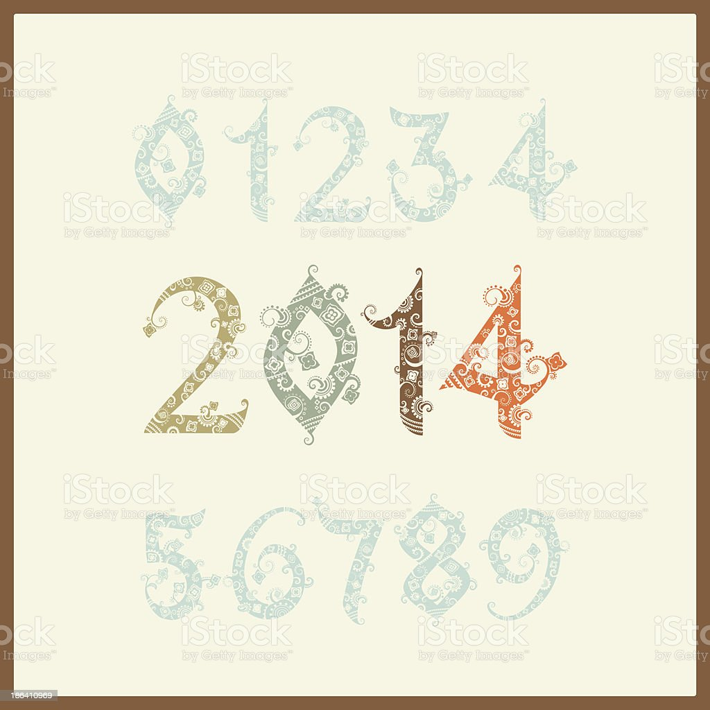 Vector New year 2014 vector art illustration
