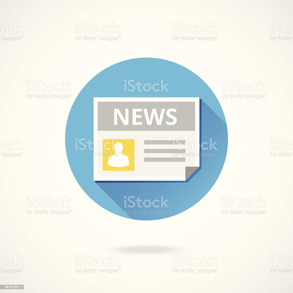 Vector News Icon royalty-free stock vector art