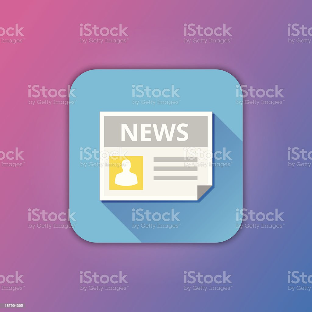 Vector News Icon royalty-free stock vector art