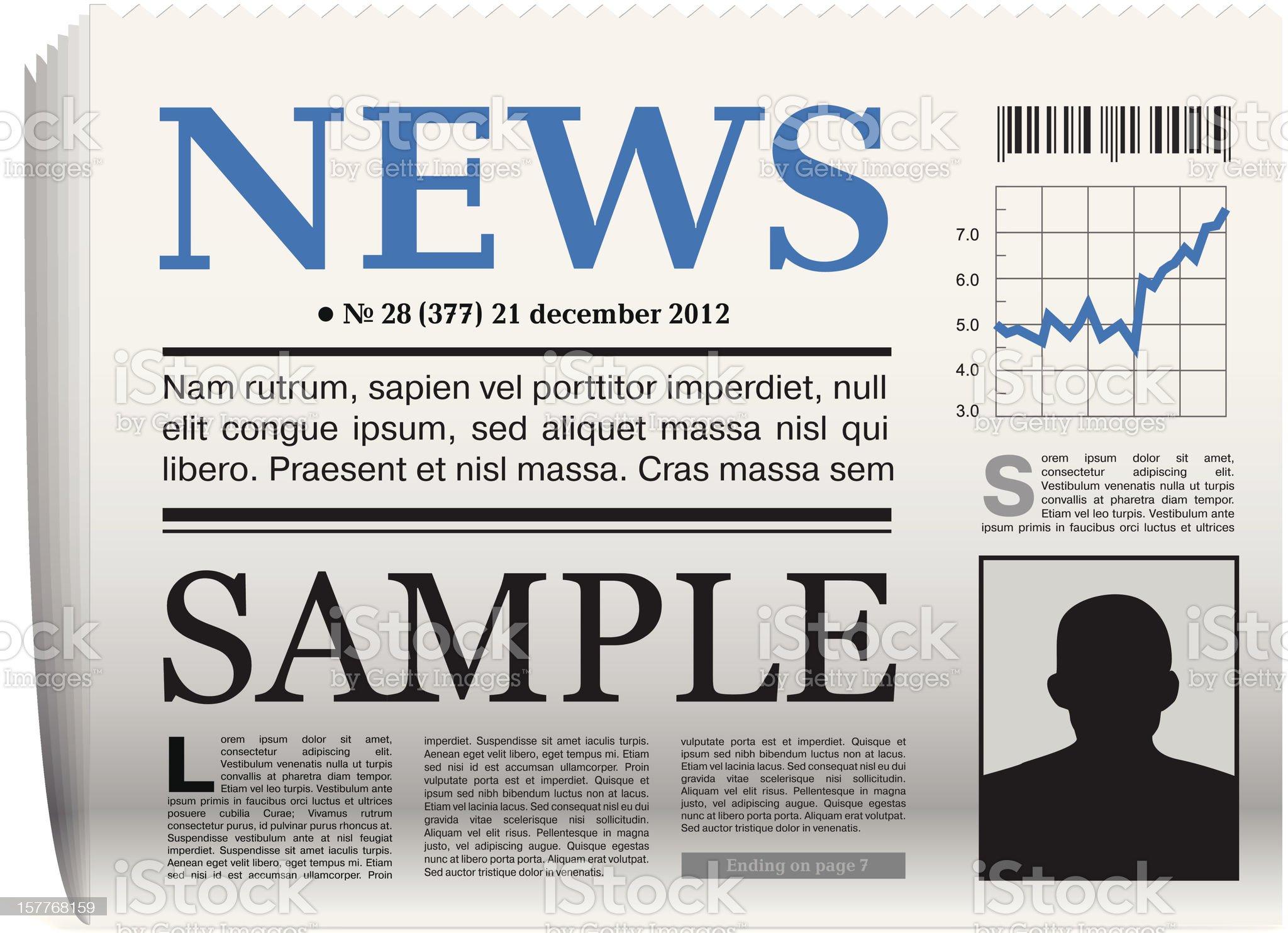 Vector newspaper icon royalty-free stock vector art