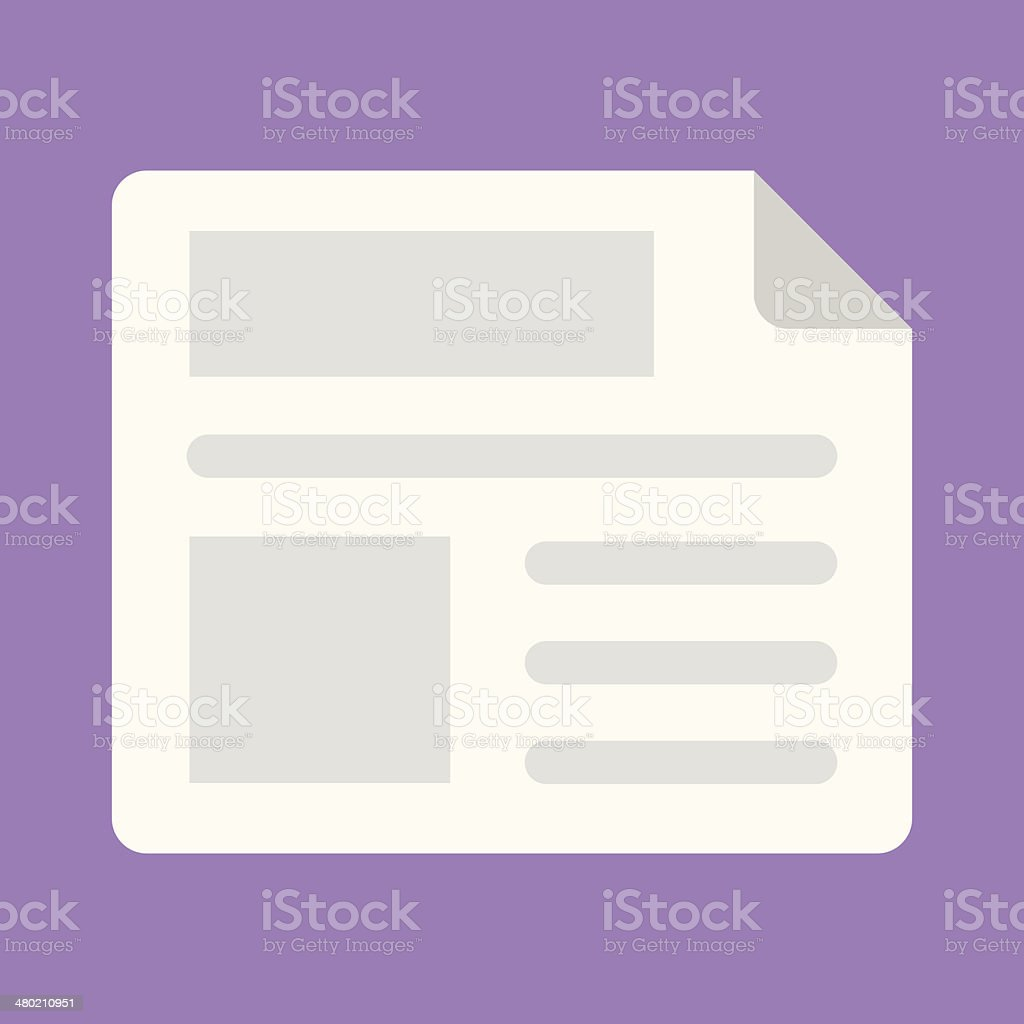 Vector Newspaper Icon royalty-free stock vector art