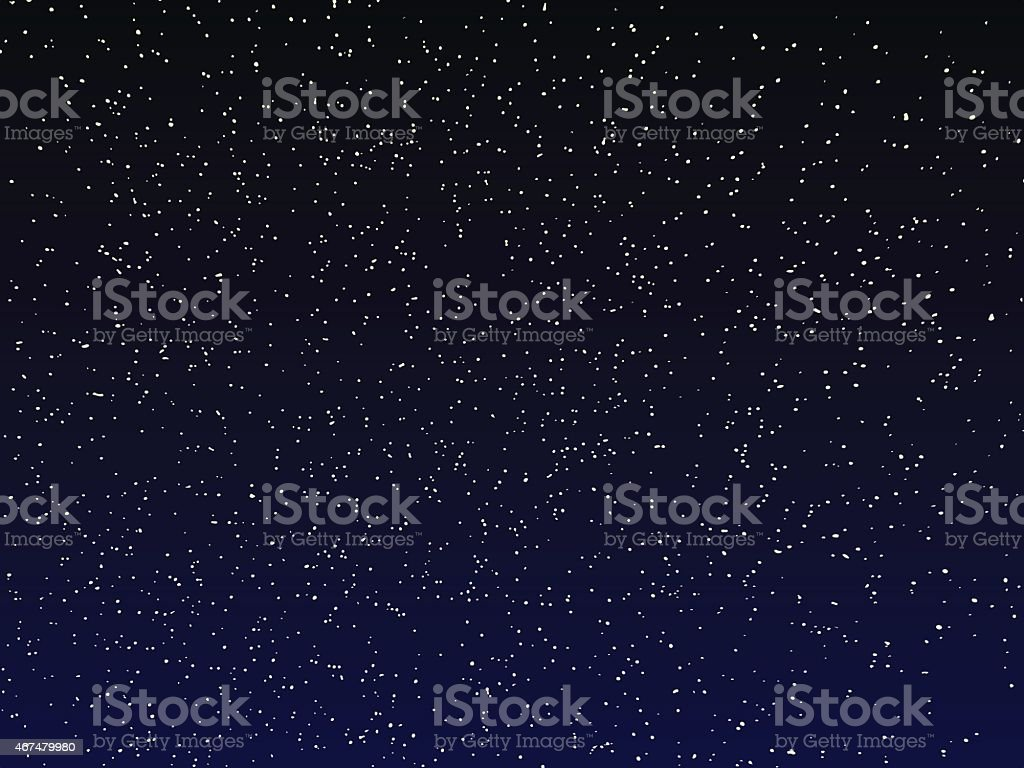 vector night sky vector art illustration