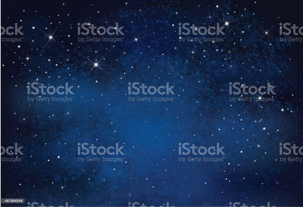 Vector night starry sky background. vector art illustration