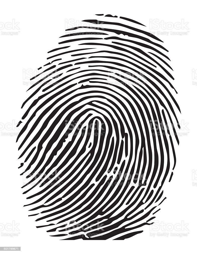 Vector of a finger print vector art illustration