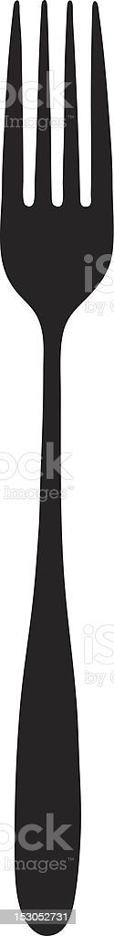 Vector of a fork royalty-free stock vector art