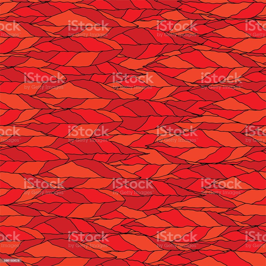 Vector of a seamless pattern of red leaves vector art illustration