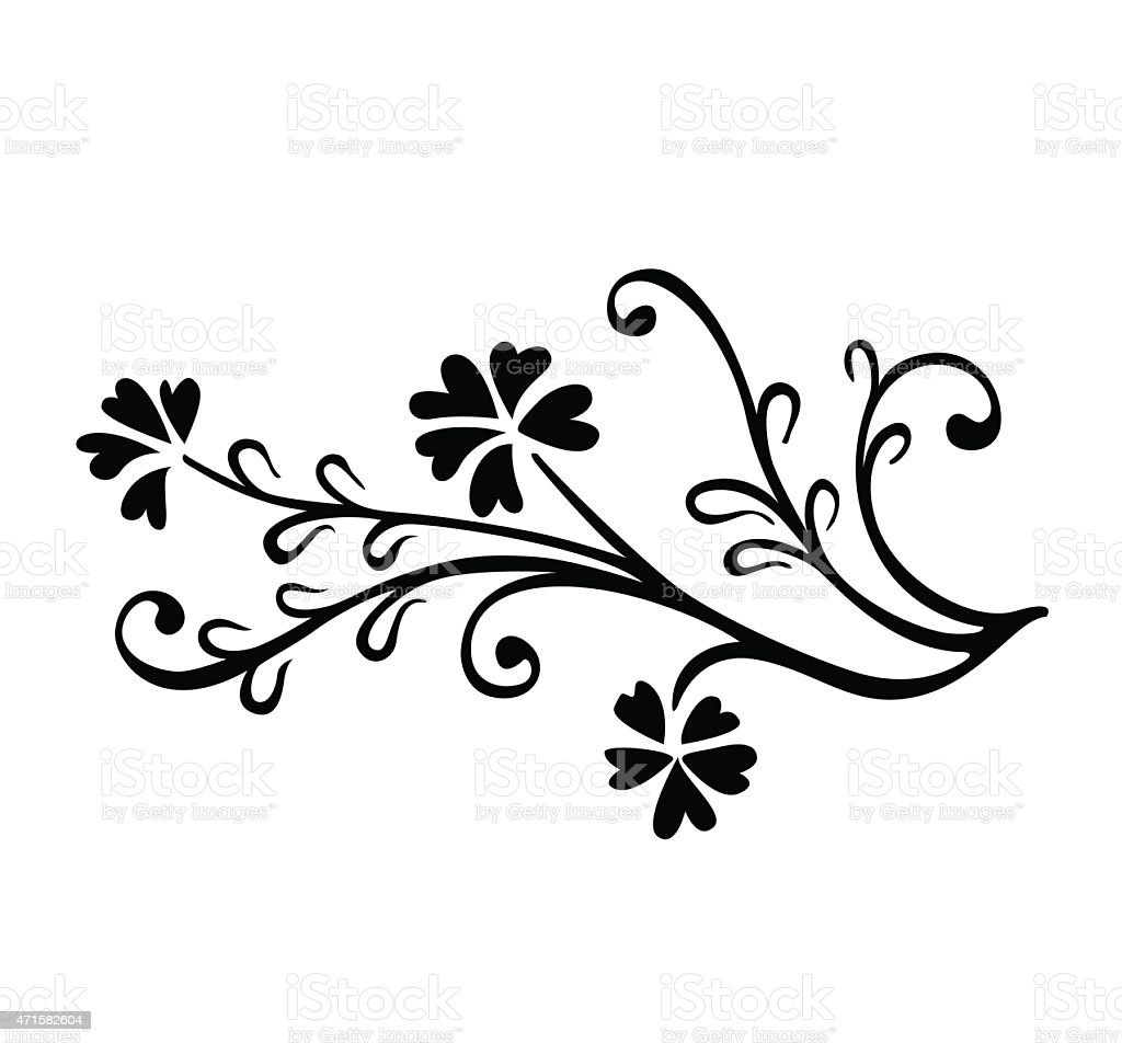 Open Plan Vector Of Abstract Artistic Floral Ornament Stock Vector