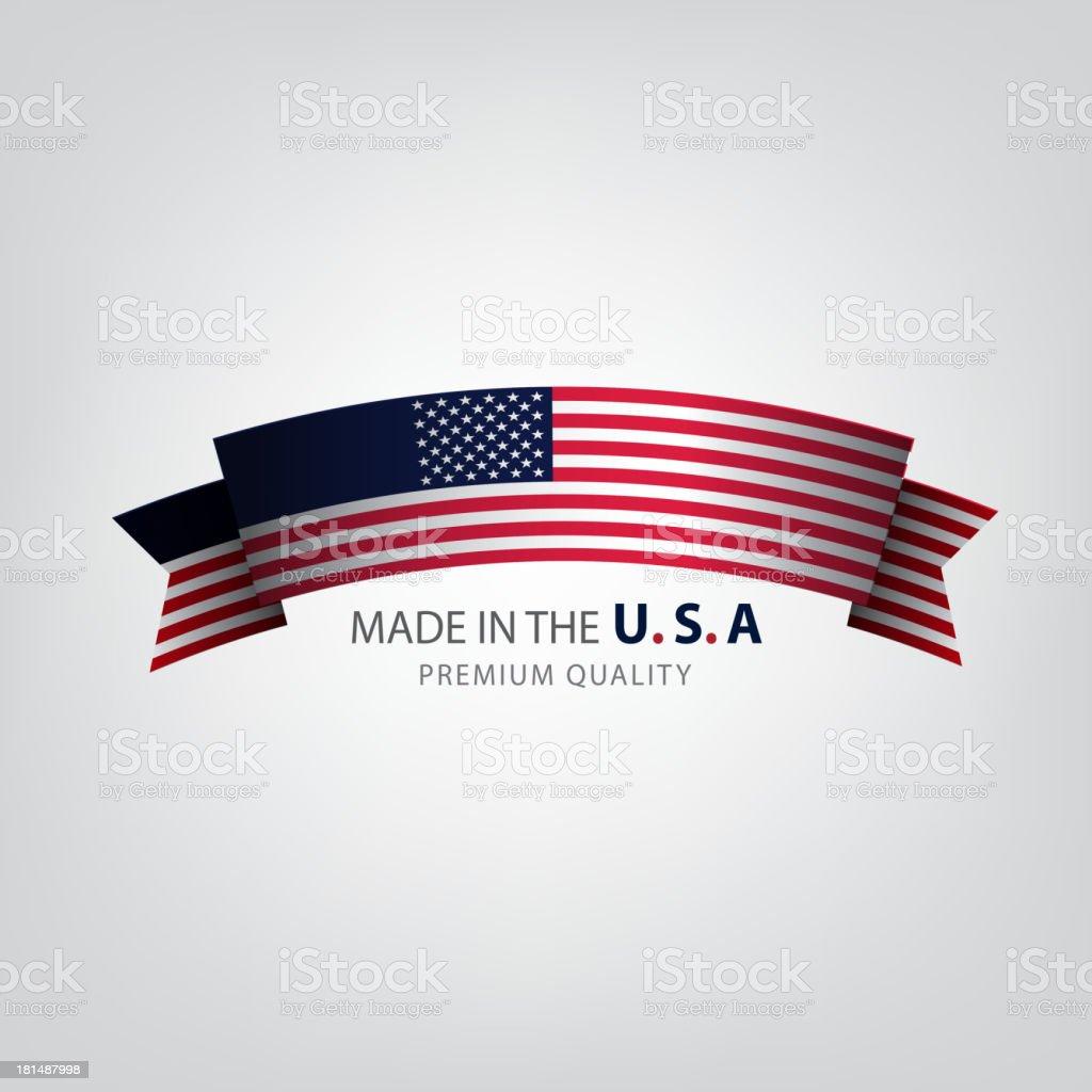 Vector of American flag logo on white background royalty-free stock vector art