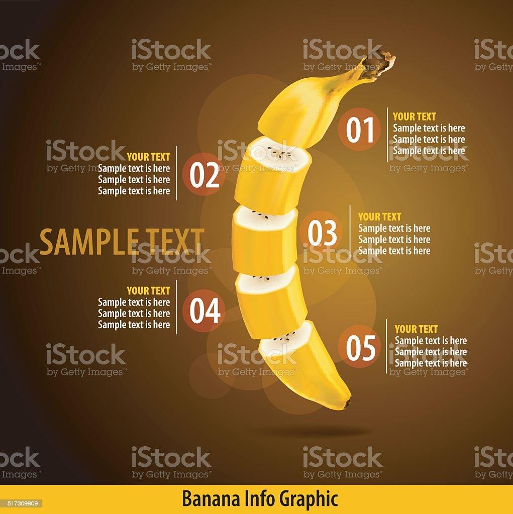 Vector of Banana Infographics vector art illustration