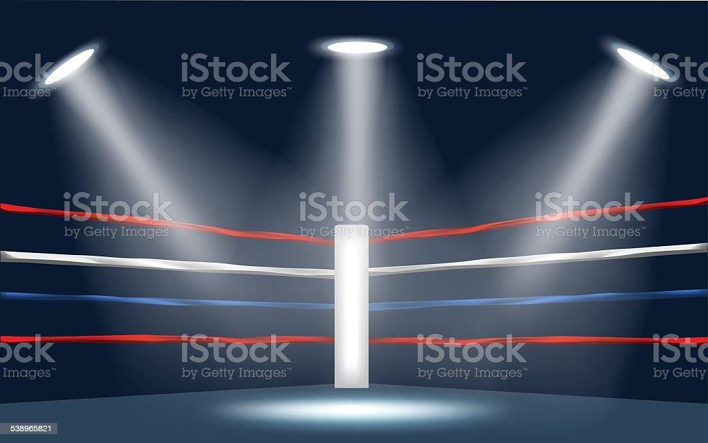 vector of boxing ring corner. vector art illustration