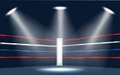 vector of boxing ring corner.