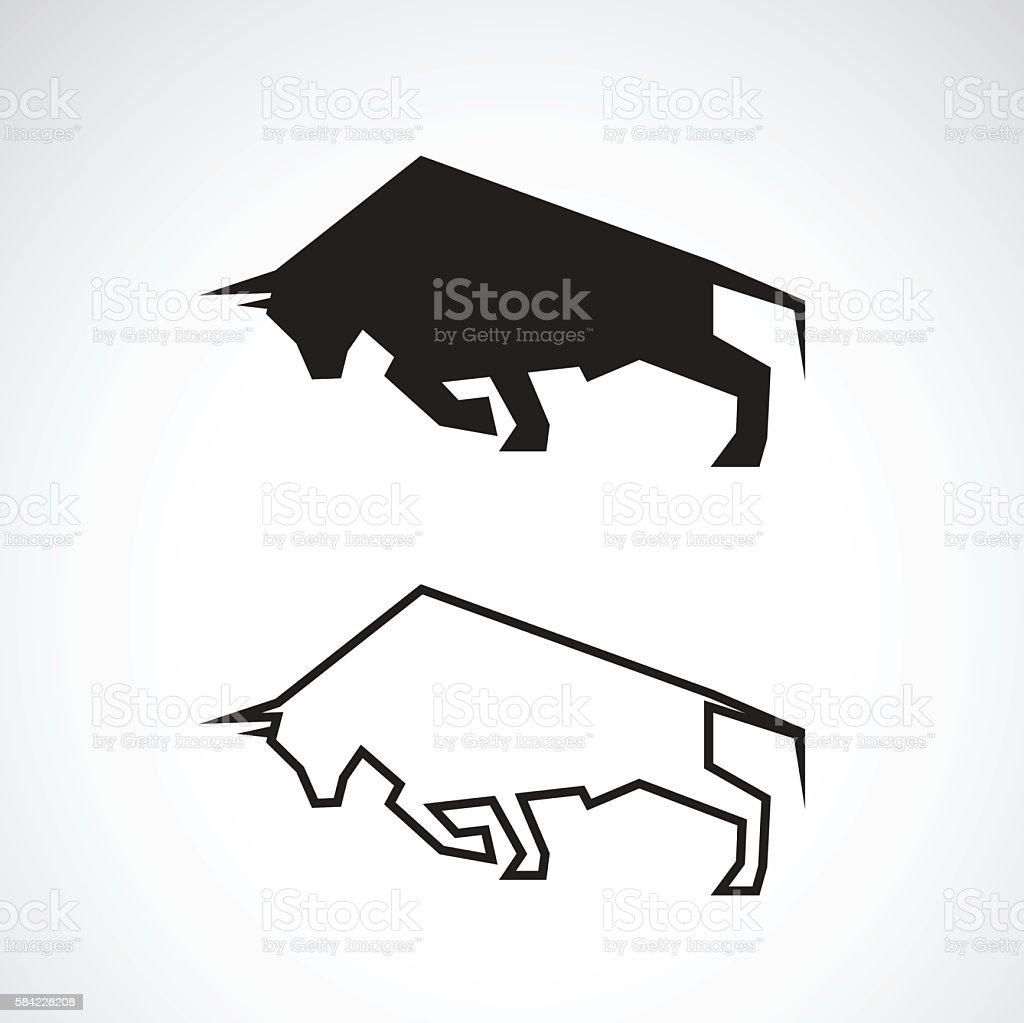 Vector of bull design. vector art illustration