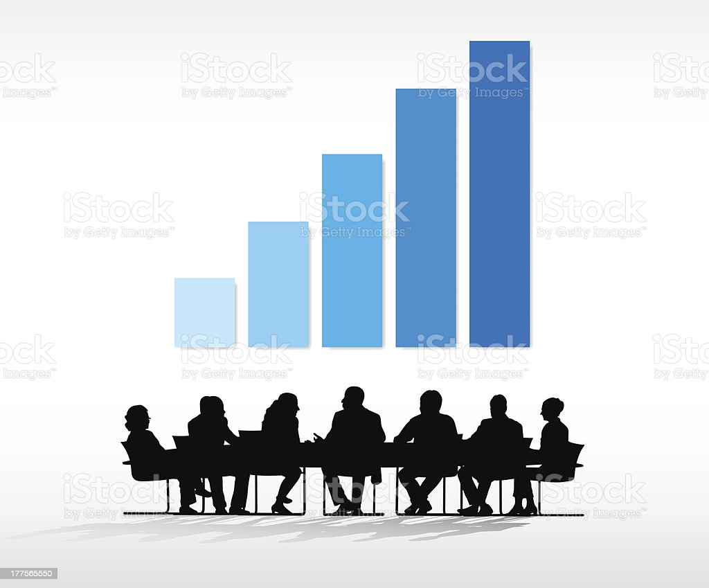 Vector of Business Meeting royalty-free stock vector art