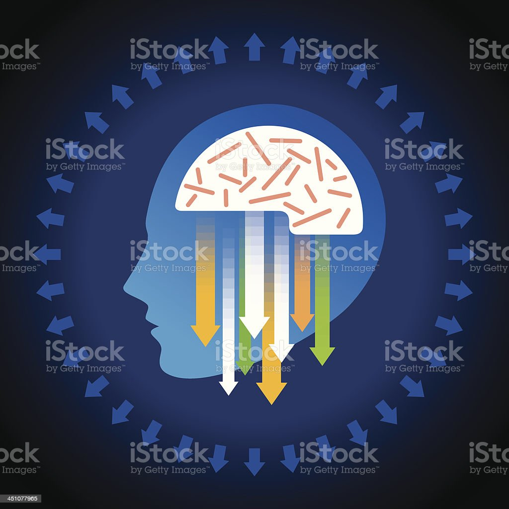 vector of business mind royalty-free stock vector art