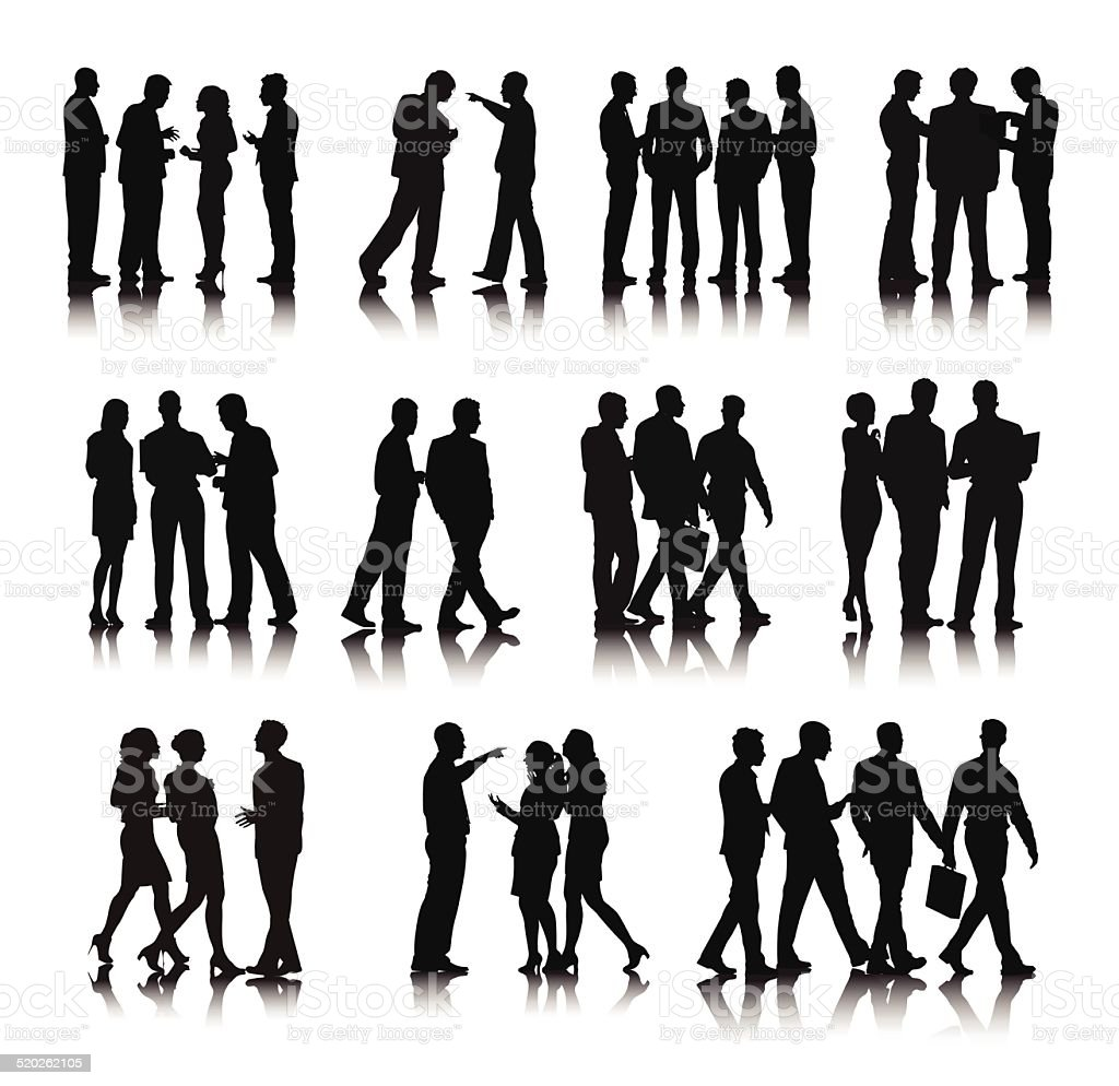 Vector of Business People in a Row vector art illustration