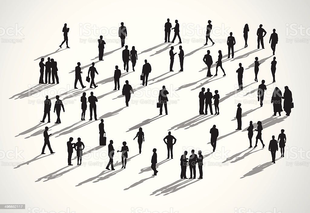 Vector of  Business People in Different Actions vector art illustration