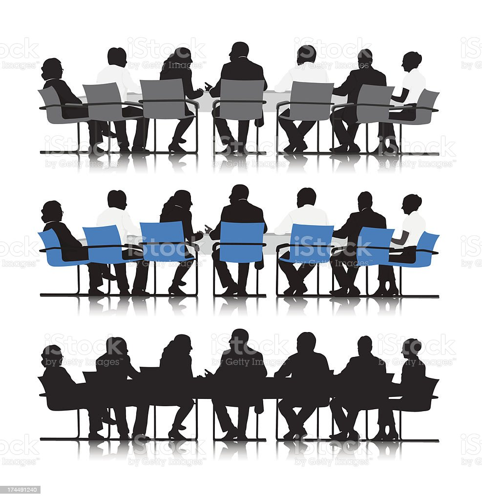 Vector of Business people meeting in board vector art illustration
