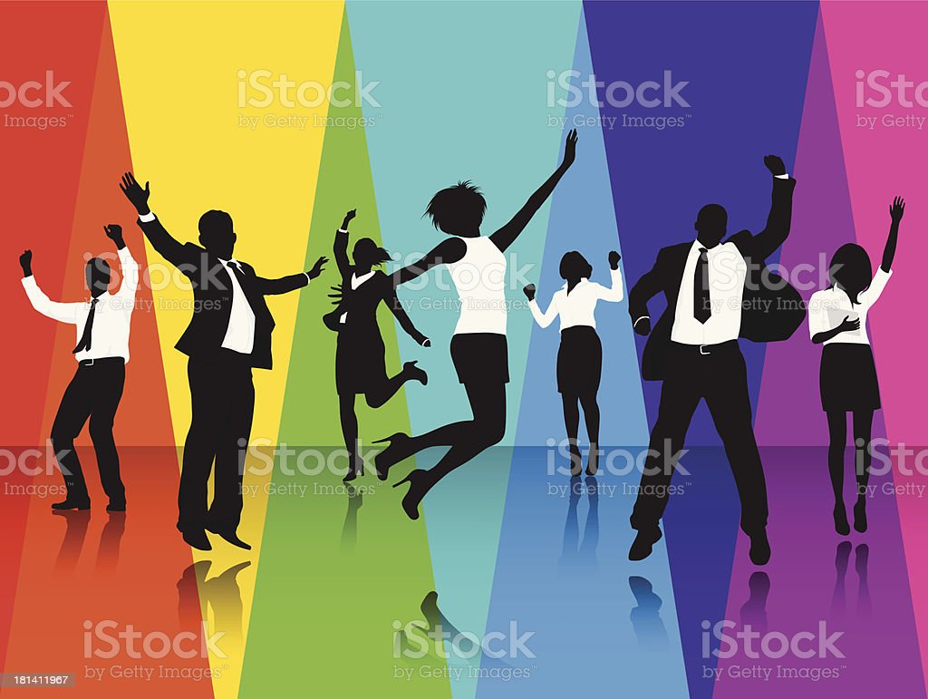 Vector of Business People Successful Group royalty-free stock vector art