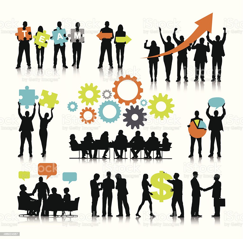 Vector of Business Teamwork vector art illustration
