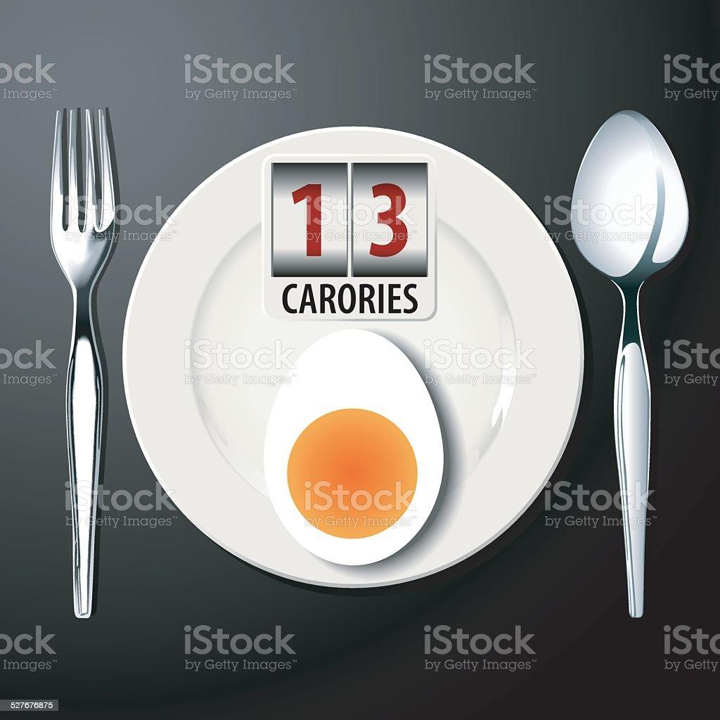 Vector of calories of boiled egg vector art illustration