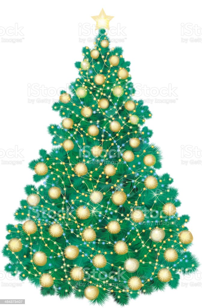 Vector of Christmas tree isolated . royalty-free stock vector art