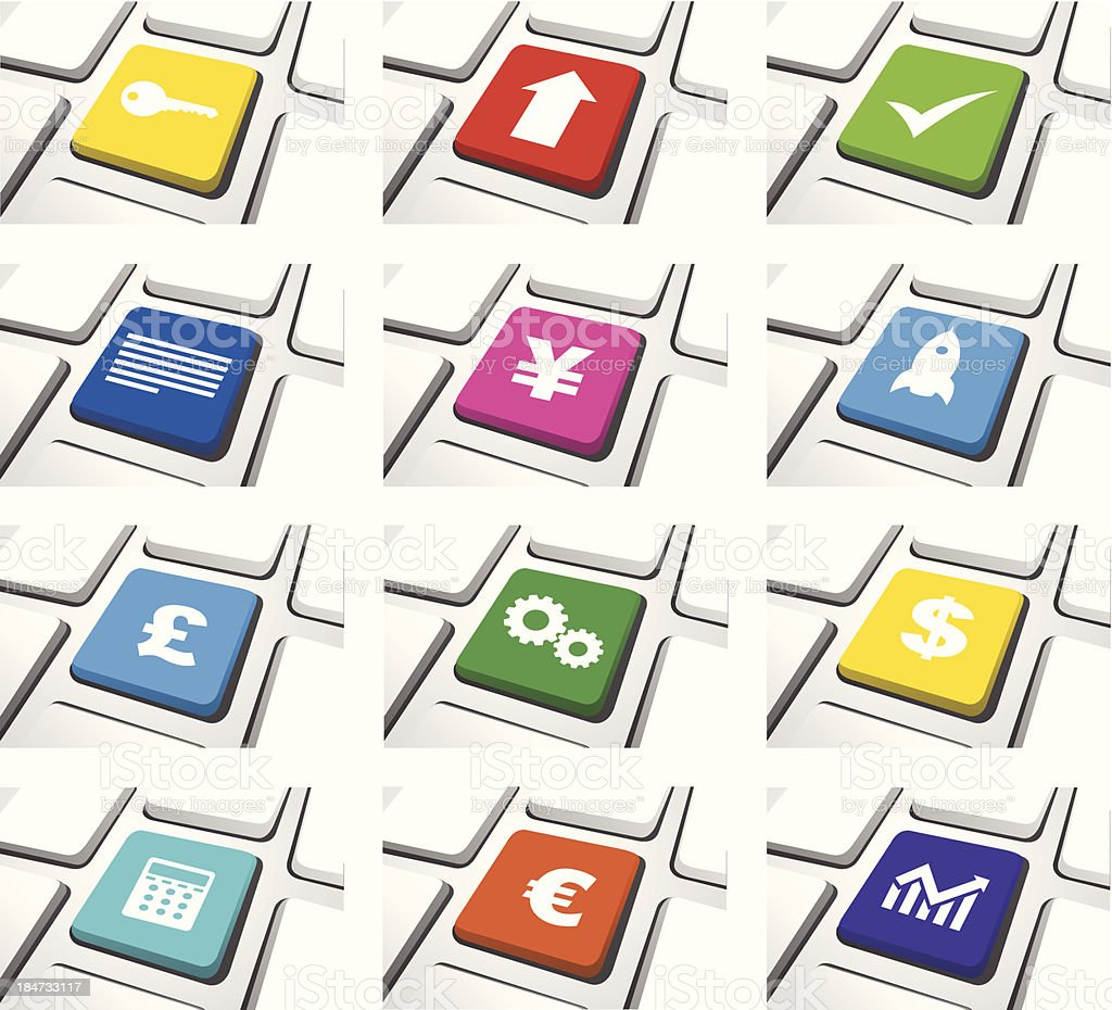 Vector of Computer Icon Sets royalty-free stock vector art