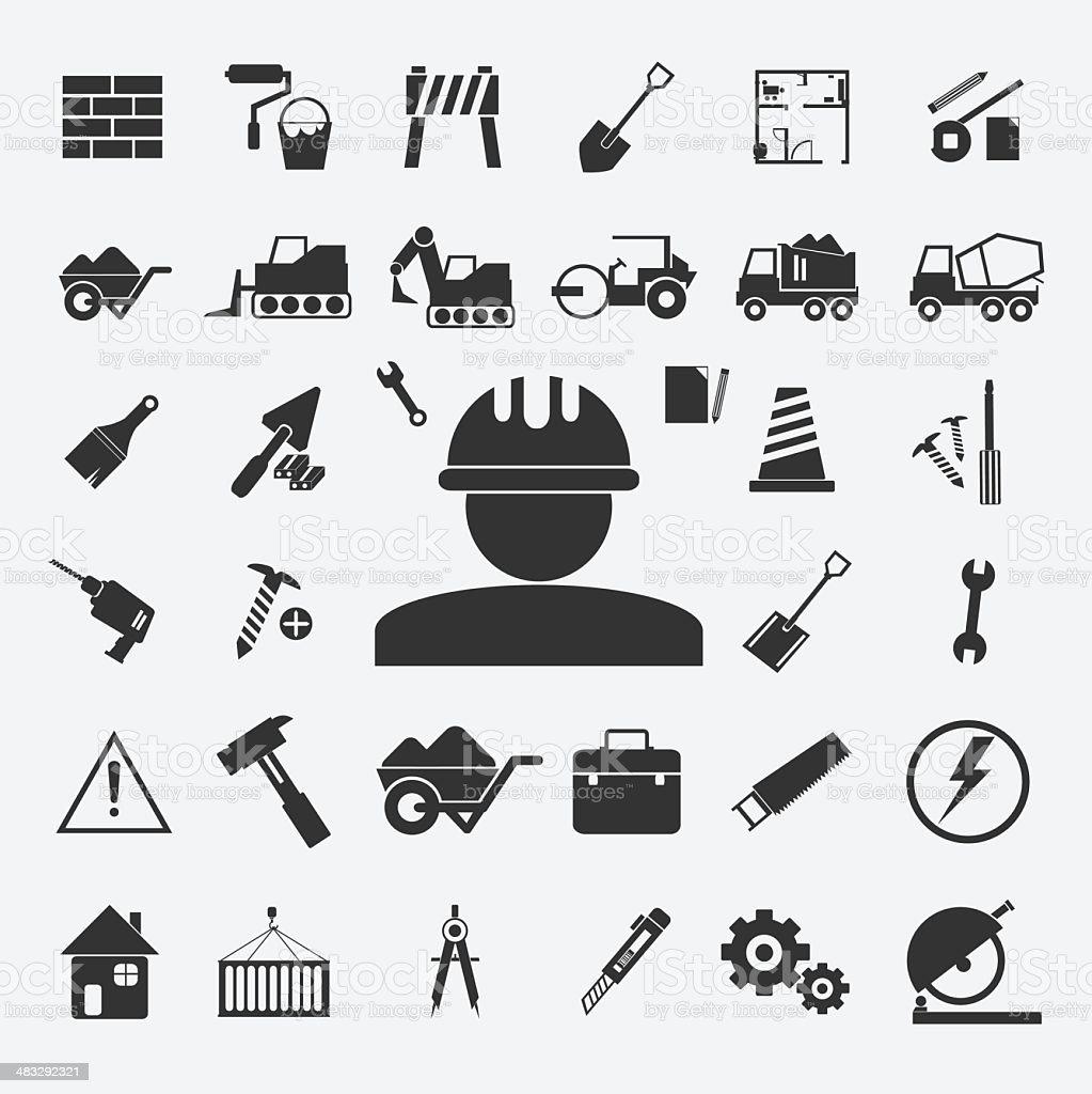 Vector of Construction  Icons set vector art illustration