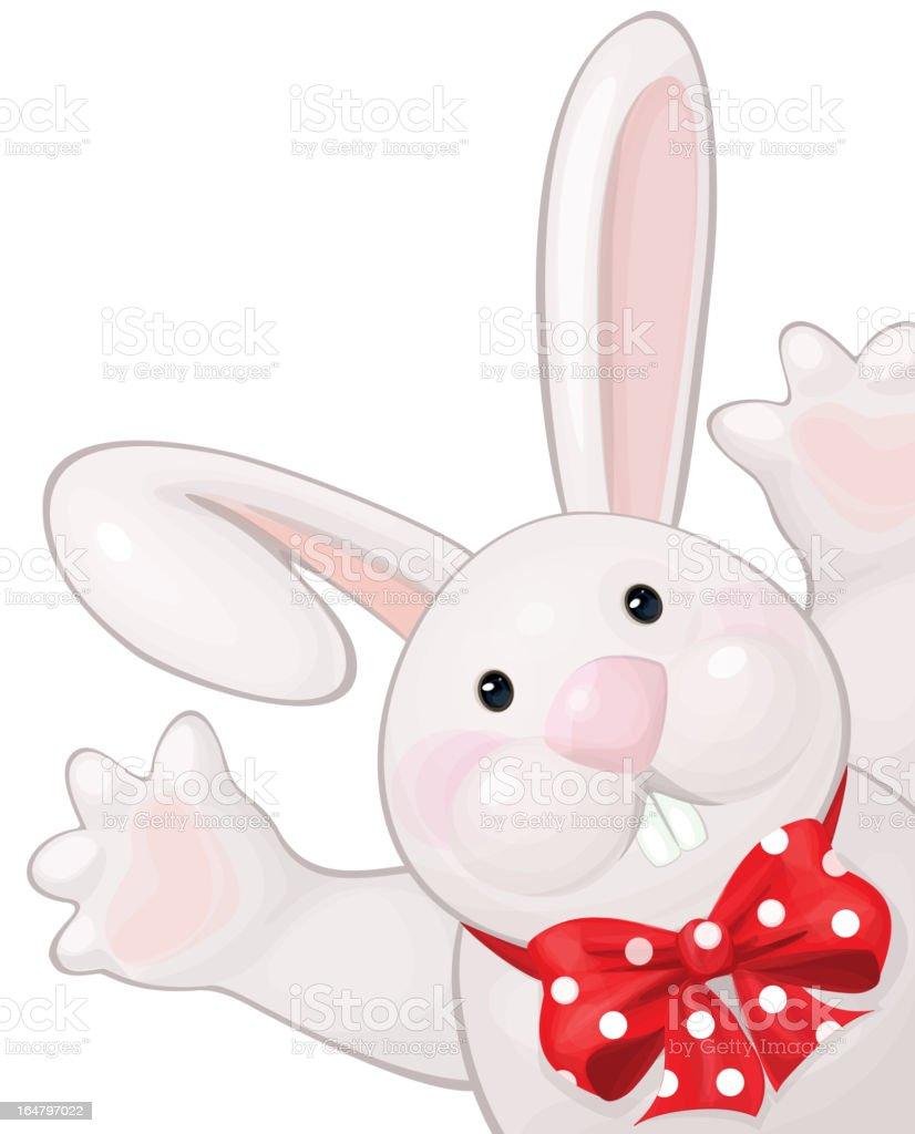 Vector of cute rabbit hiding by blank. royalty-free stock vector art