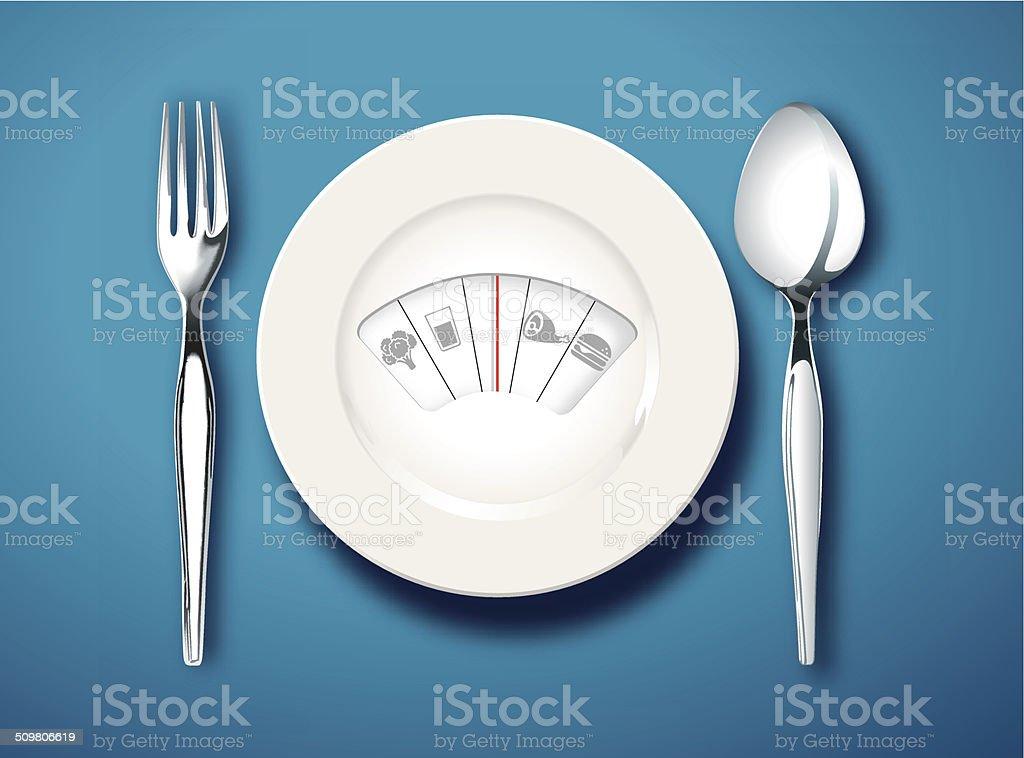 Vector of Diet Menu vector art illustration