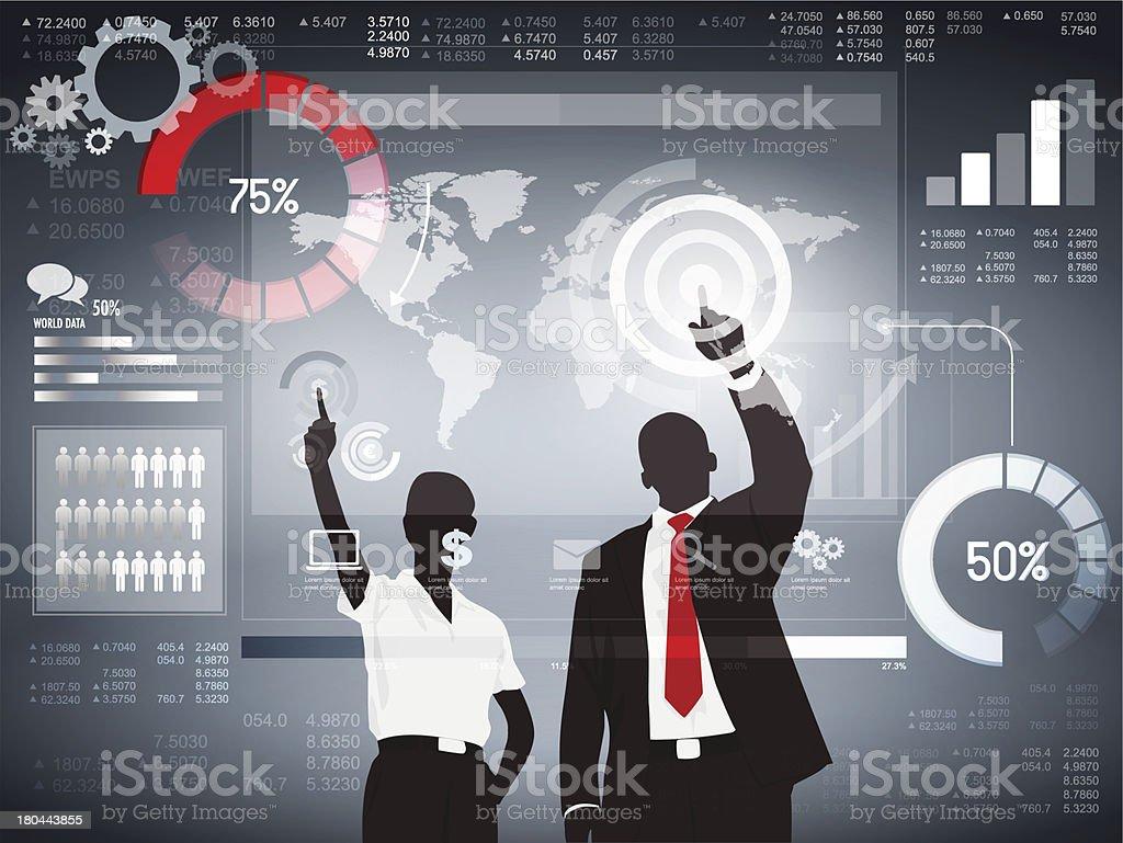 Vector of Finance Analizing Team vector art illustration