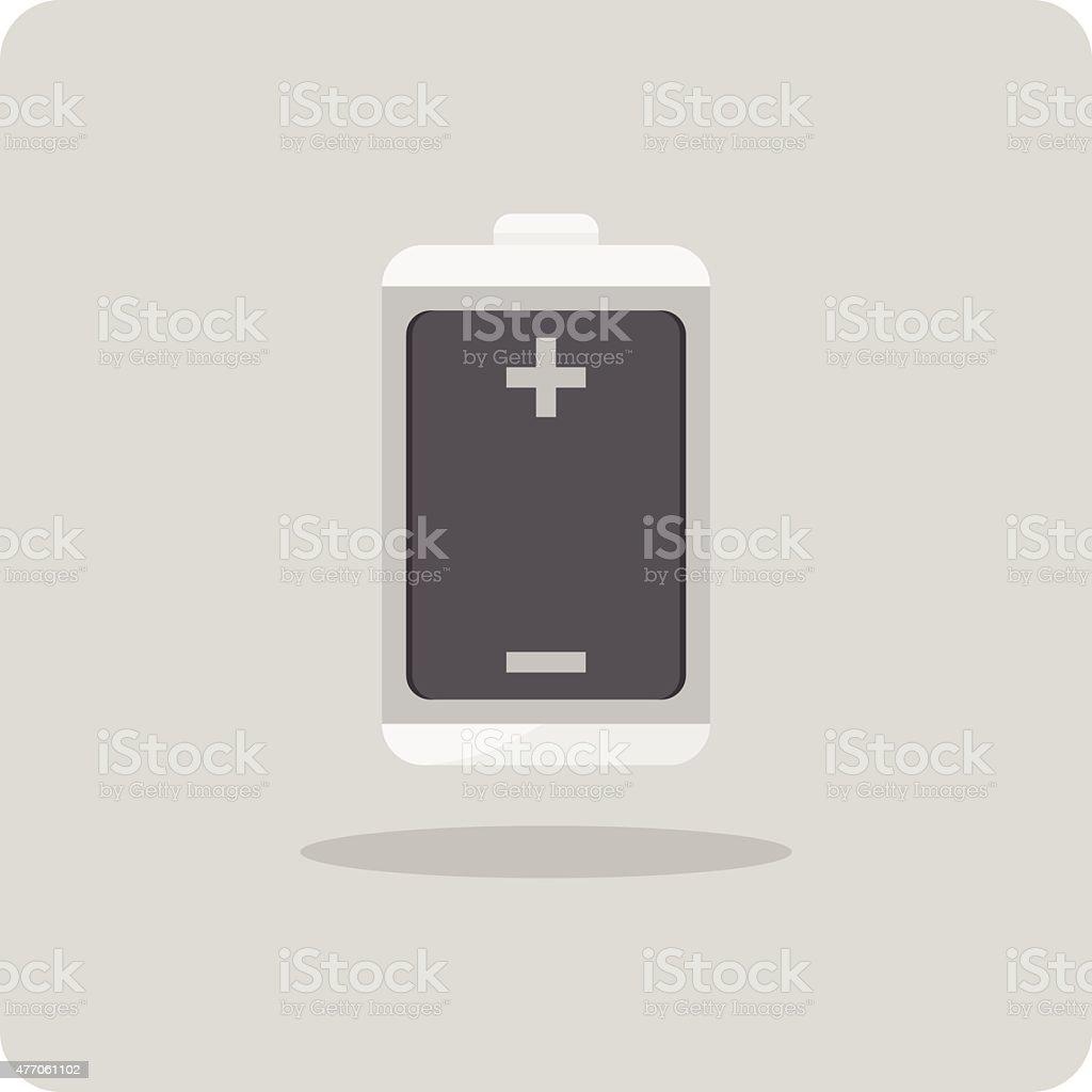 Vector of flat icon, battery vector art illustration