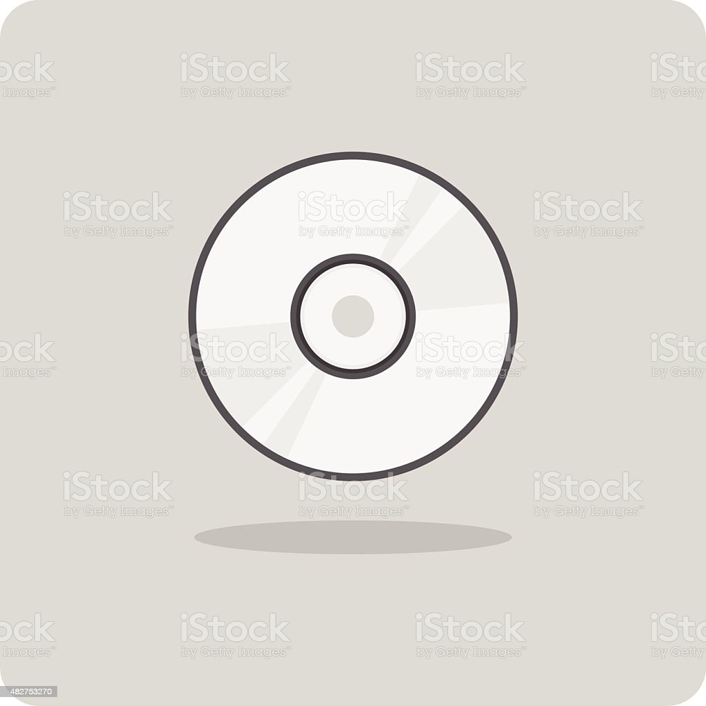 Vector of flat icon, cd vector art illustration