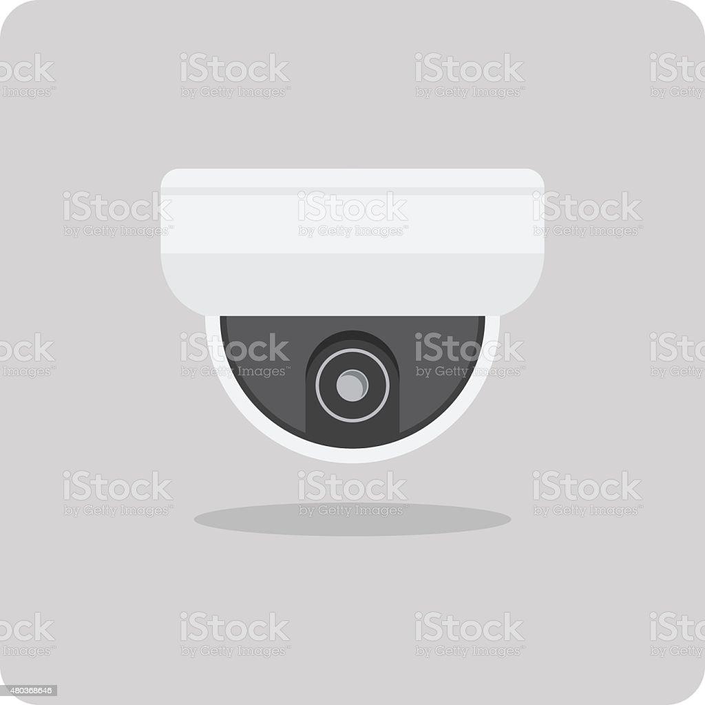 Vector of flat icon, close circuit television (CCTV cameras) vector art illustration