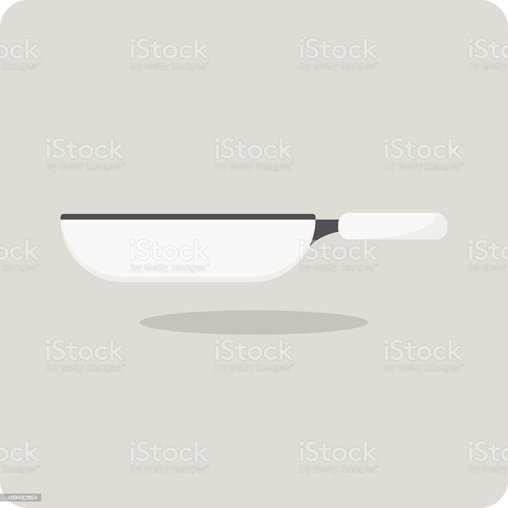 Vector of flat icon, flying pan vector art illustration
