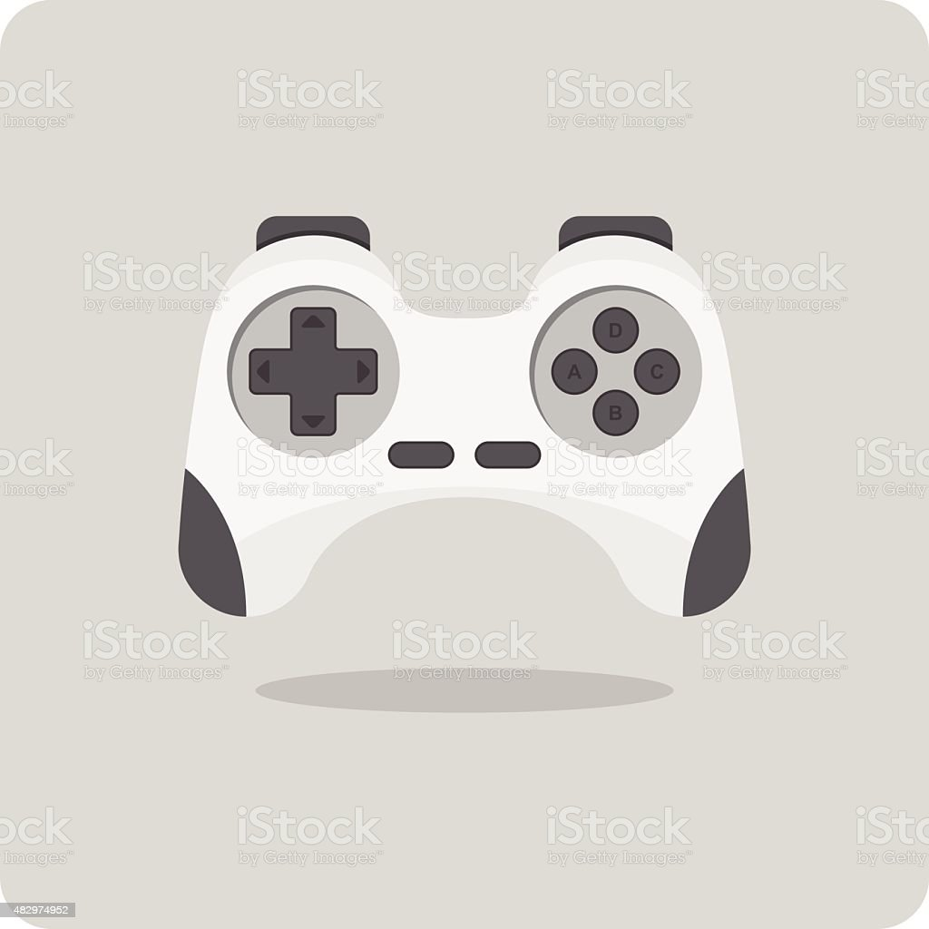 Vector of flat icon, game controller vector art illustration