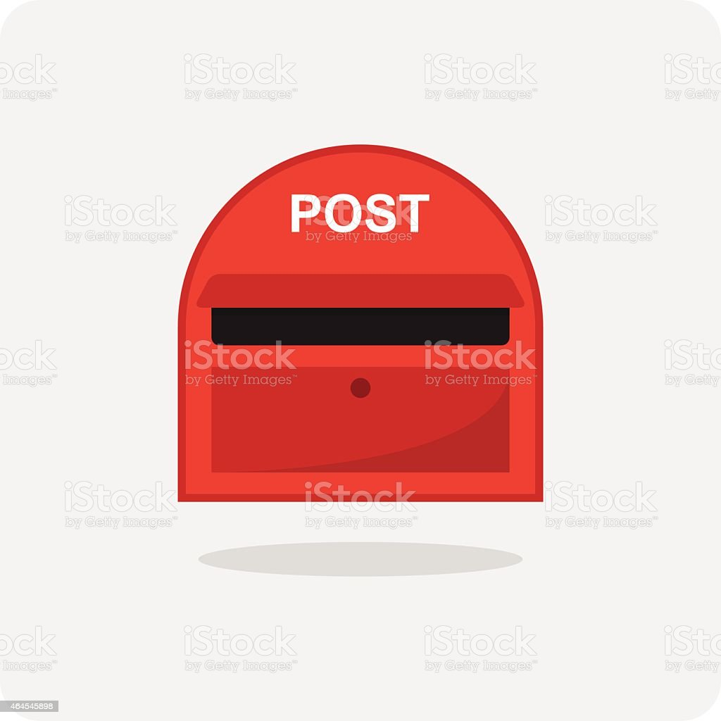 Vector of flat icon, red mail box vector art illustration