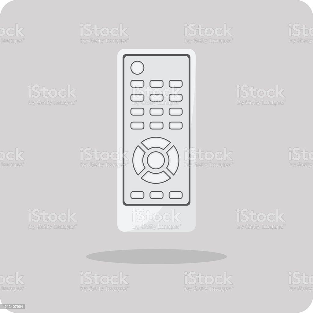 Vector of flat icon, Remote control vector art illustration