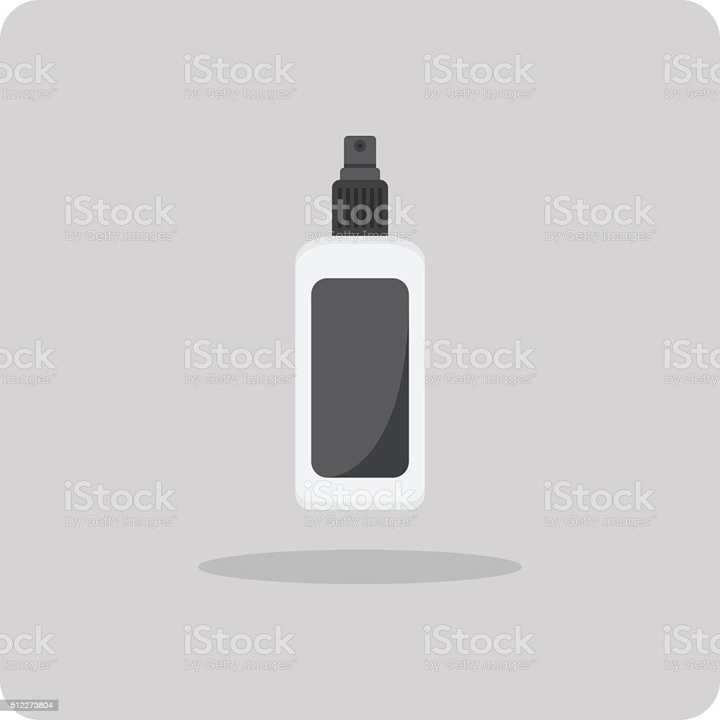 Vector of flat icon, Spray bottle vector art illustration