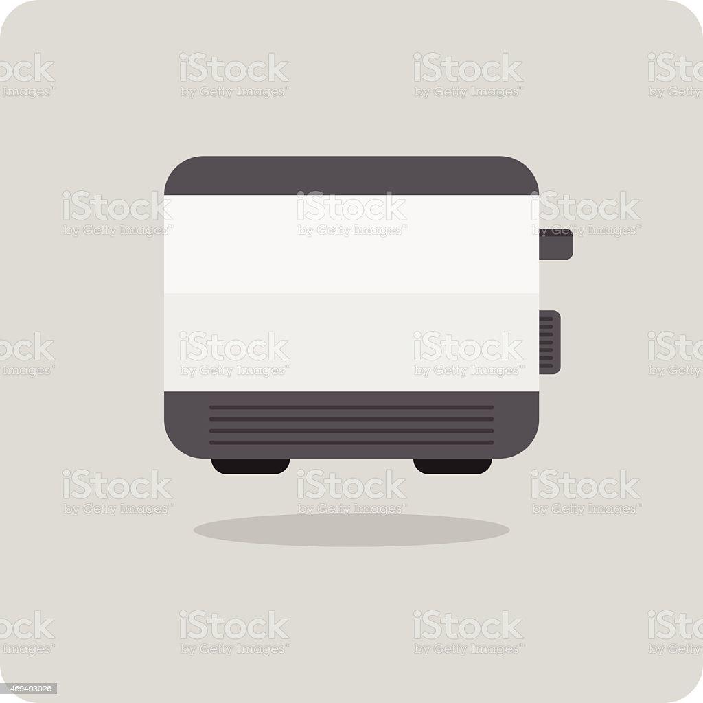 Vector of flat icon, toaster vector art illustration