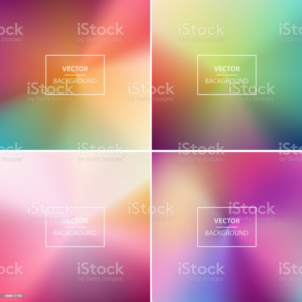 Vector of four colorful abstract backgrounds vector art illustration