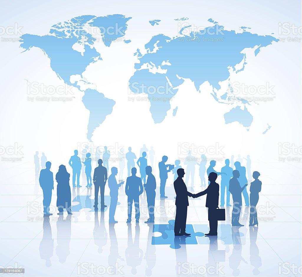Vector of Global Framework Agreements vector art illustration