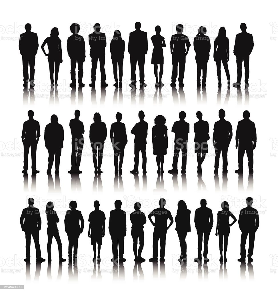 Vector of Group of World People Standing vector art illustration