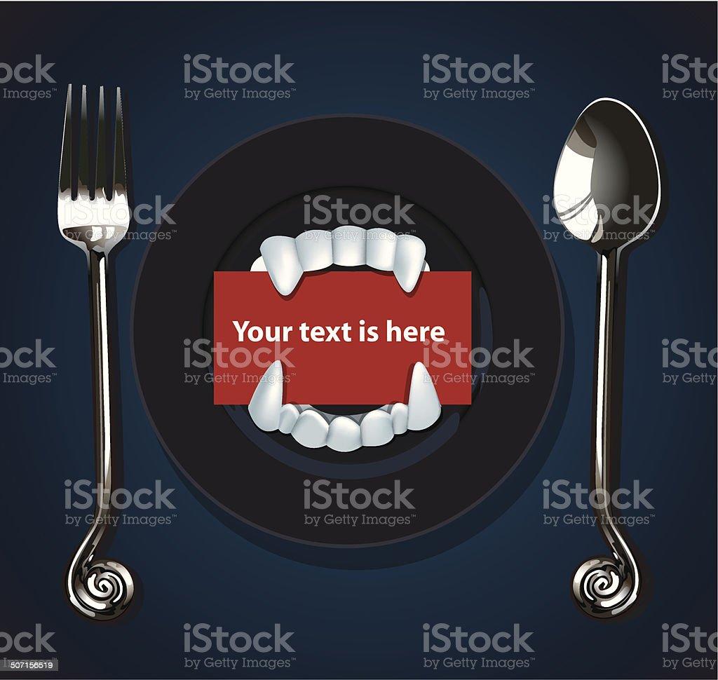 Vector of Halloween Vampire Teeth vector art illustration