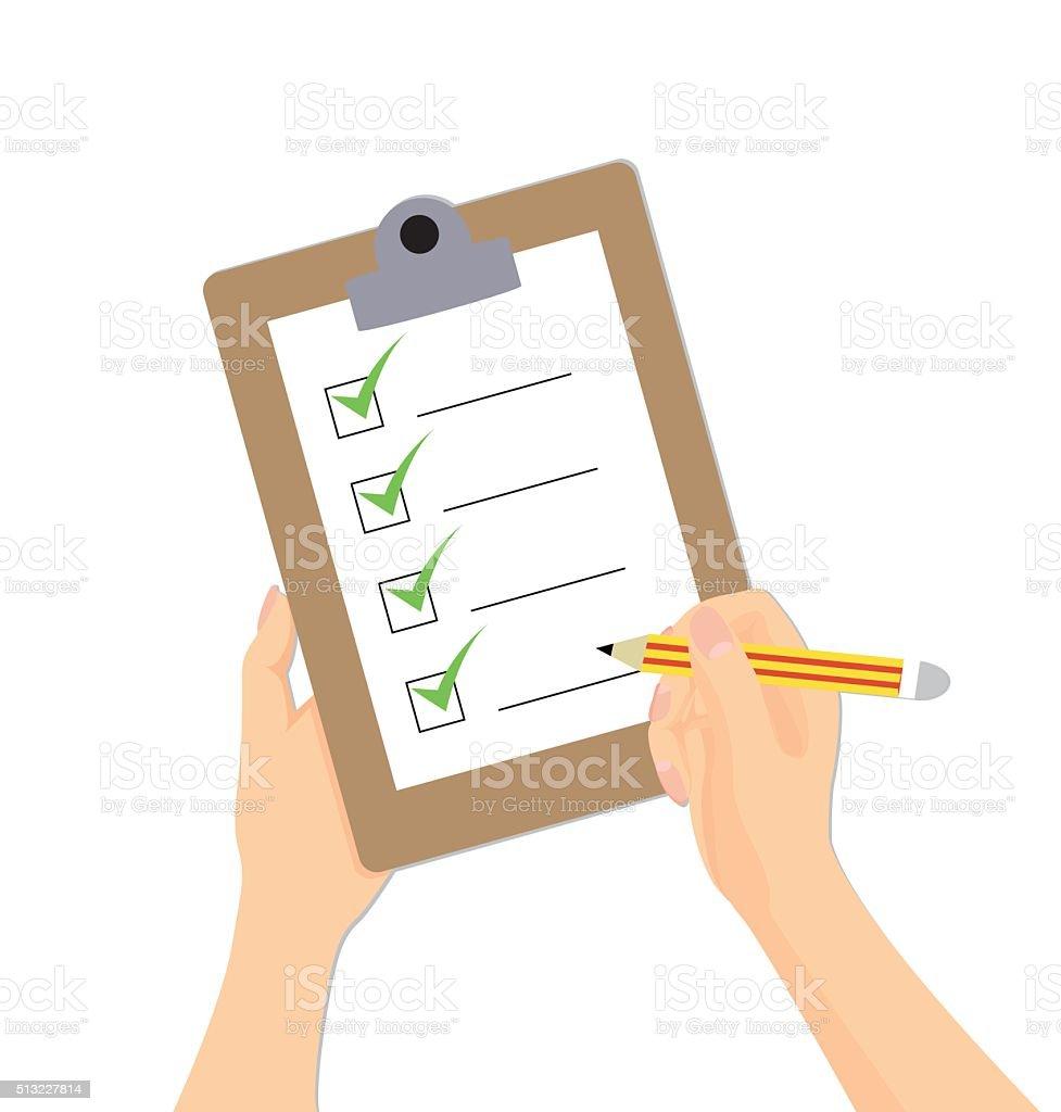 Tablet PC Checklist Clip Art