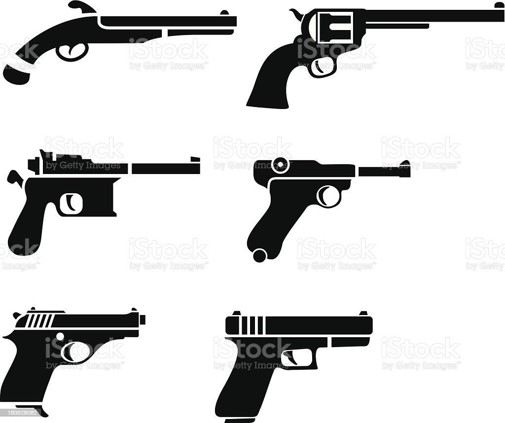 Vector of handgun pictogram vector art illustration