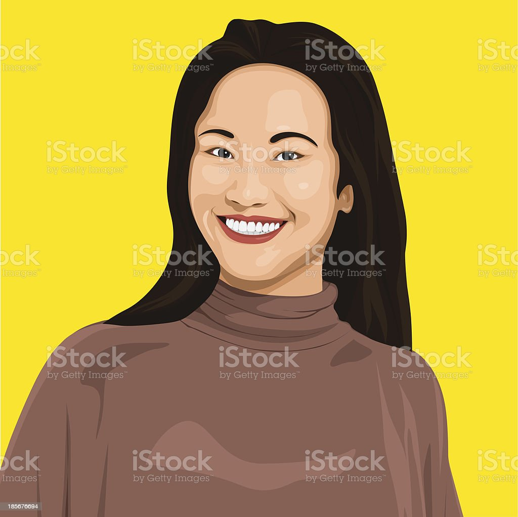 Vector of Happy Lady royalty-free stock vector art