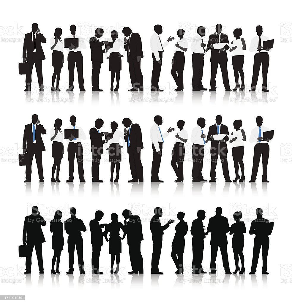 Vector of Multi-ethnic Business people vector art illustration