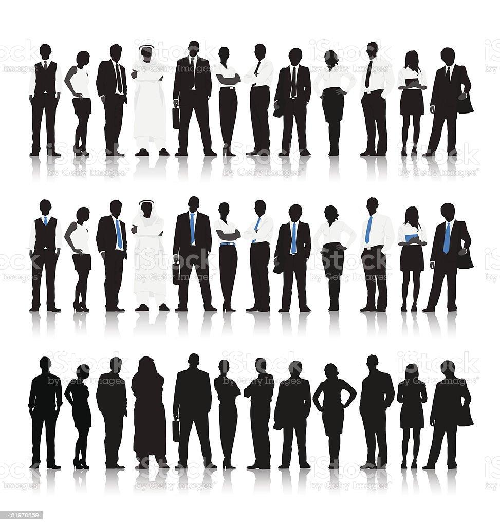 Vector of Multi-ethnic Business people vector art illustration